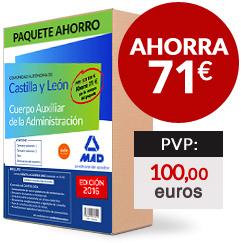 Paquete Ahorro Cuerpo Auxiliar de la Administración de Castilla y León - Ahorra 71 euros