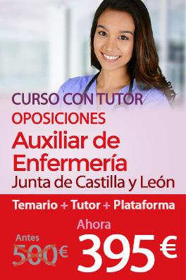 Curso con tutor - Auxiliar de enfermería de la Junta de Castilla y León