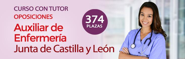 Prepárate con nuestro curso online con tutor para las oposiciones de Auxiliar de Enfermería para la Administración de Castilla y Léon